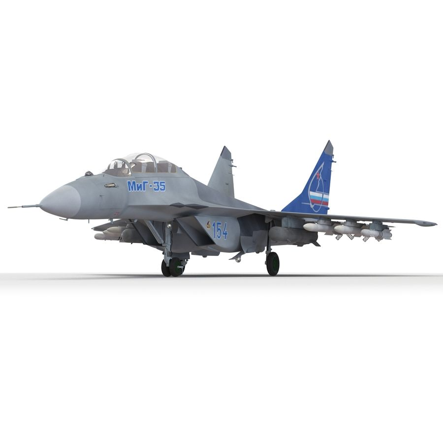 Russian Jet Fighter Mikoyan MiG-35 royalty-free 3d model - Preview no. 14