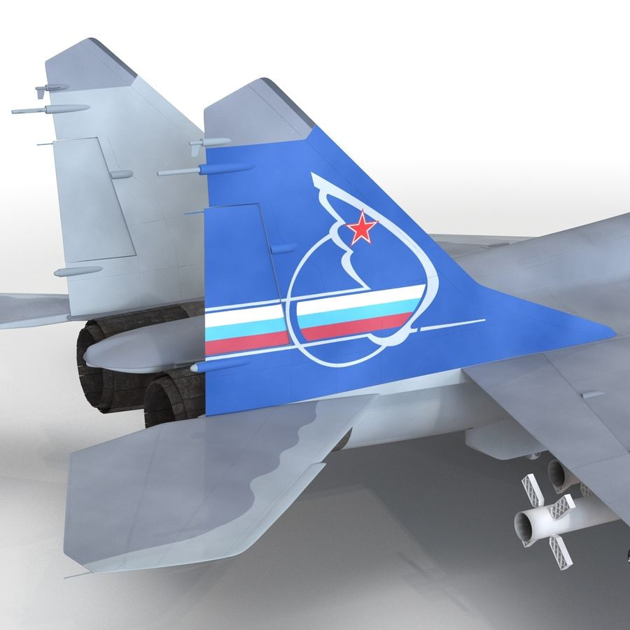 Russian Jet Fighter Mikoyan MiG-35 royalty-free 3d model - Preview no. 49