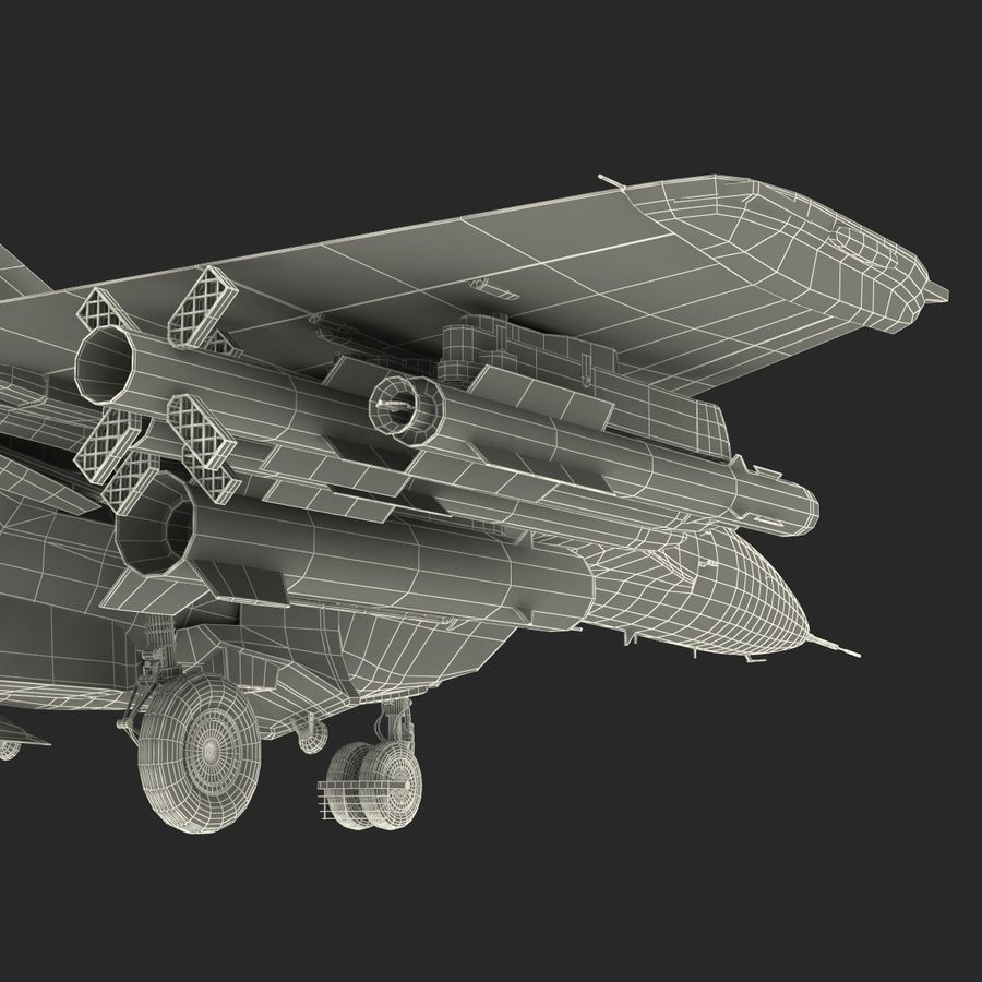 Russian Jet Fighter Mikoyan MiG-35 royalty-free 3d model - Preview no. 82