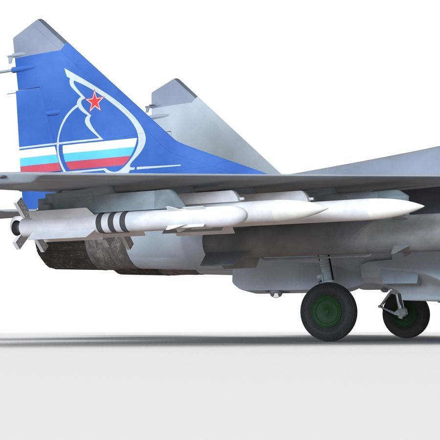 Russian Jet Fighter Mikoyan MiG-35 royalty-free 3d model - Preview no. 46