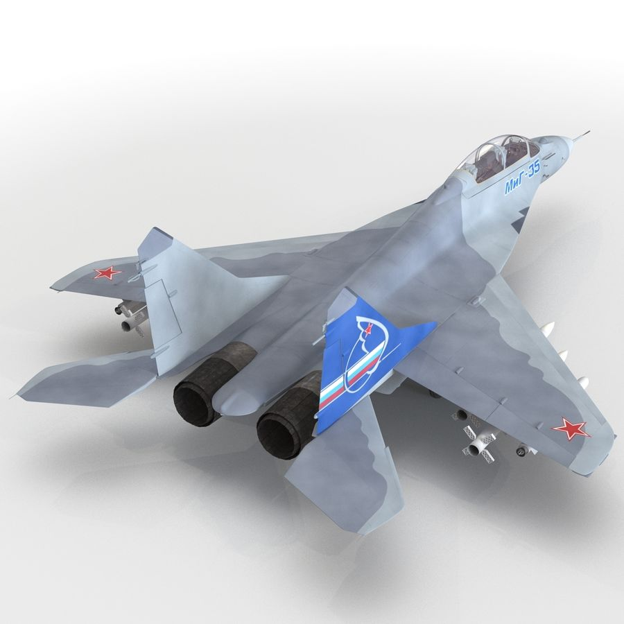 Russian Jet Fighter Mikoyan MiG-35 royalty-free 3d model - Preview no. 36