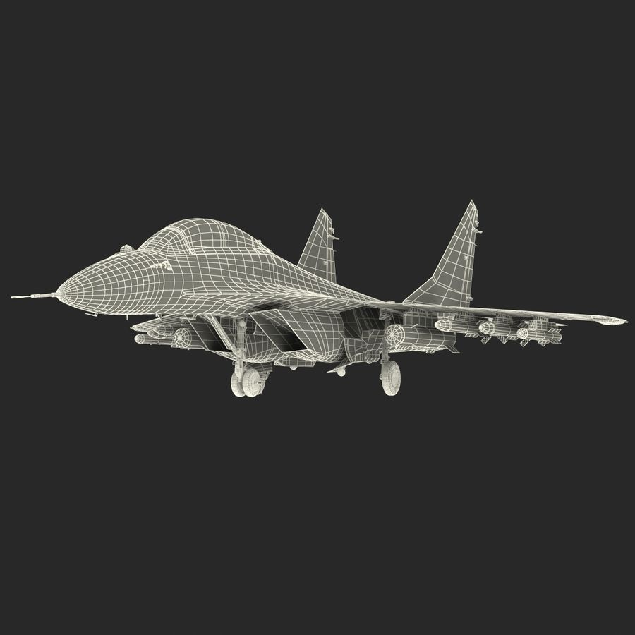 Russian Jet Fighter Mikoyan MiG-35 royalty-free 3d model - Preview no. 71
