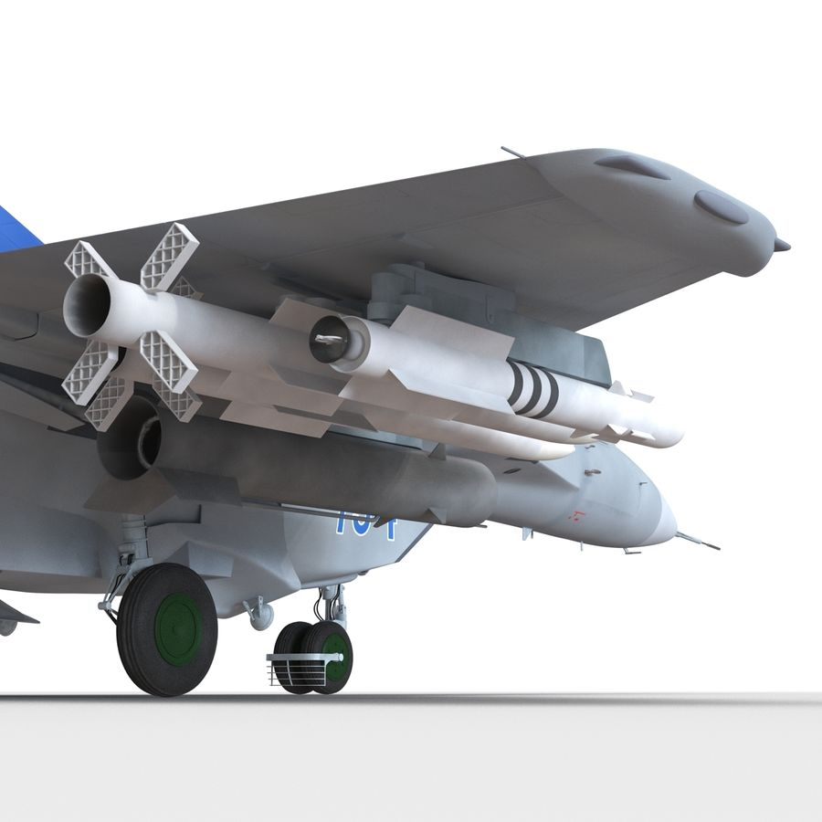 Russian Jet Fighter Mikoyan MiG-35 royalty-free 3d model - Preview no. 47