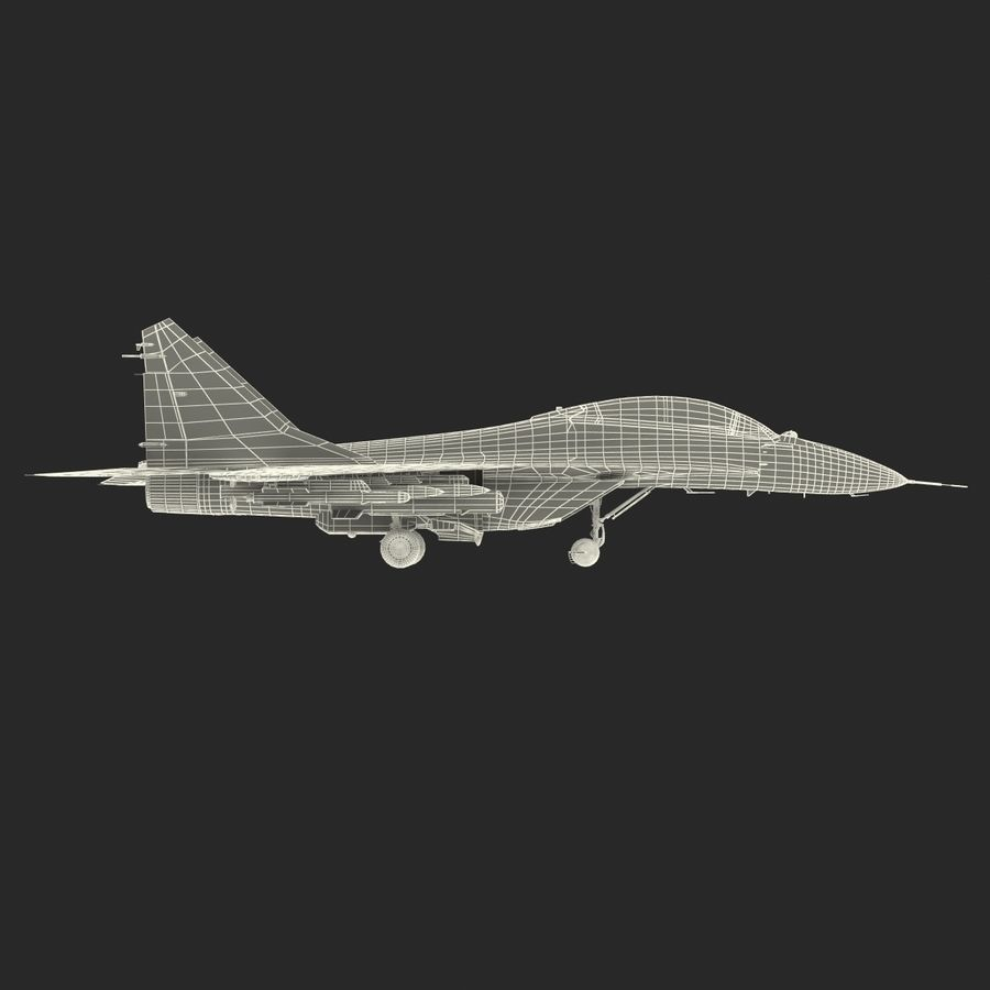 Russian Jet Fighter Mikoyan MiG-35 royalty-free 3d model - Preview no. 68
