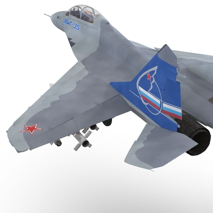 Russian Jet Fighter Mikoyan MiG-35 royalty-free 3d model - Preview no. 28
