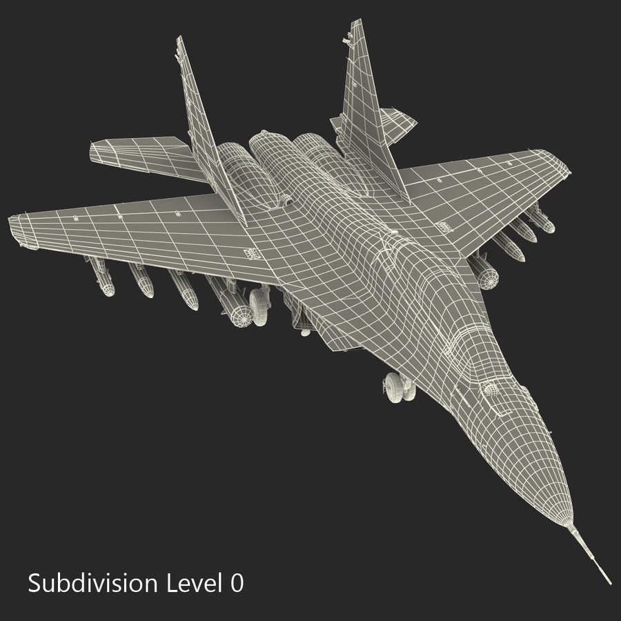 Russian Jet Fighter Mikoyan MiG-35 royalty-free 3d model - Preview no. 61