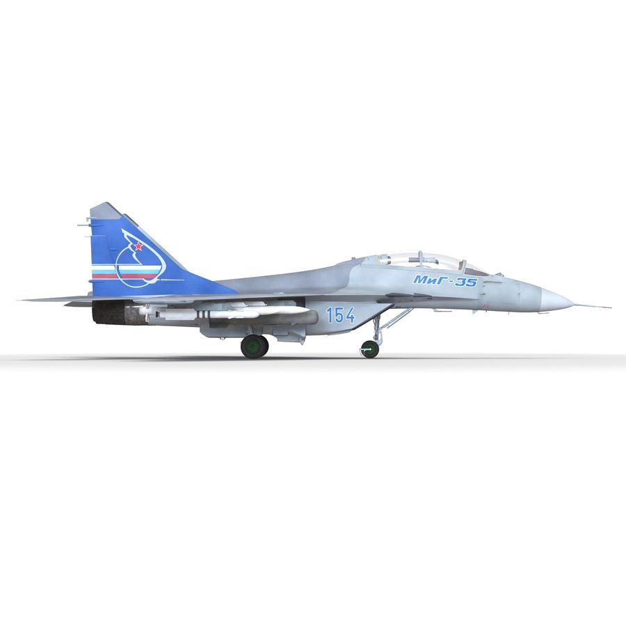 Russian Jet Fighter Mikoyan MiG-35 royalty-free 3d model - Preview no. 30