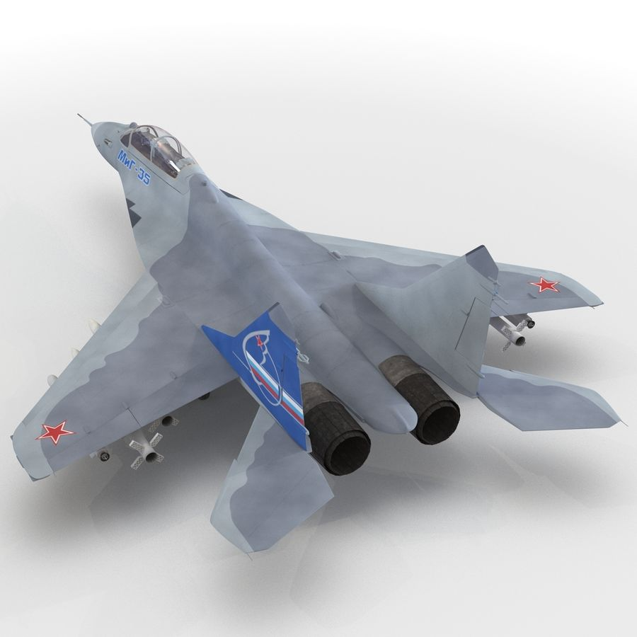 Russian Jet Fighter Mikoyan MiG-35 royalty-free 3d model - Preview no. 37