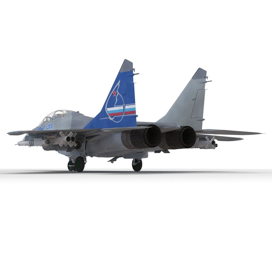 Russian Jet Fighter Mikoyan MiG-35 royalty-free 3d model - Preview no. 34