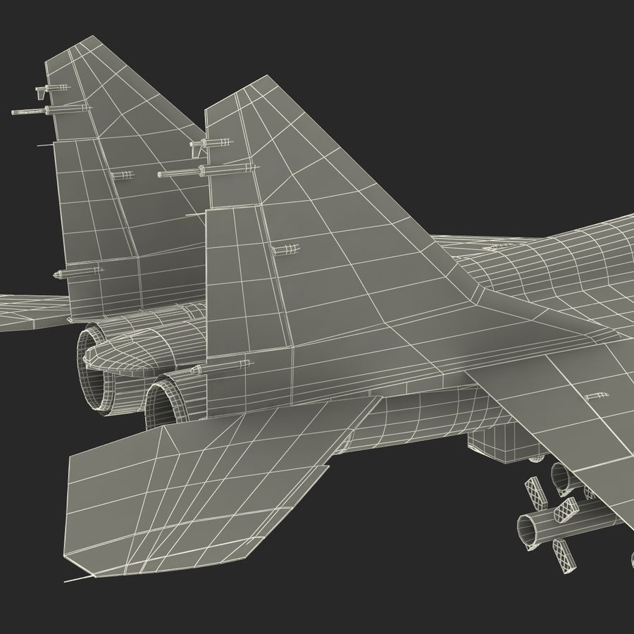 Russian Jet Fighter Mikoyan MiG-35 royalty-free 3d model - Preview no. 84