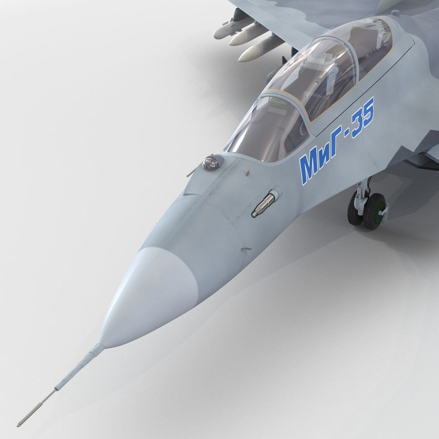Russian Jet Fighter Mikoyan MiG-35 royalty-free 3d model - Preview no. 41