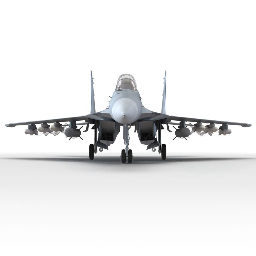Russian Jet Fighter Mikoyan MiG-35 royalty-free 3d model - Preview no. 32