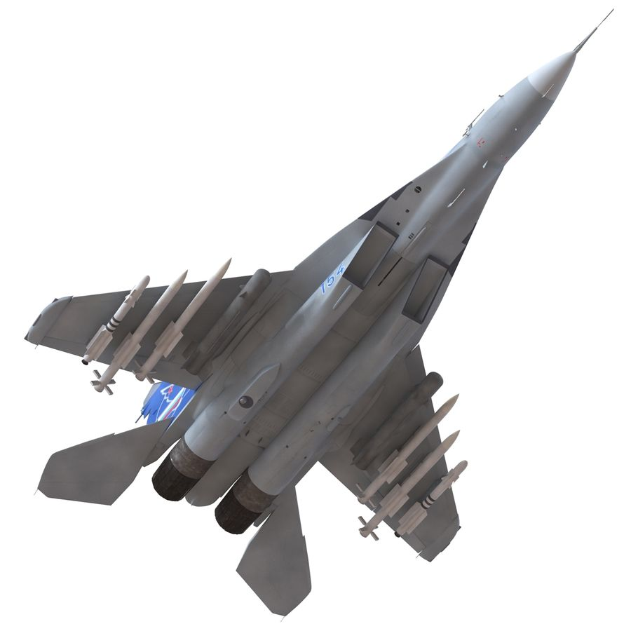 Russian Jet Fighter Mikoyan MiG-35 royalty-free 3d model - Preview no. 25