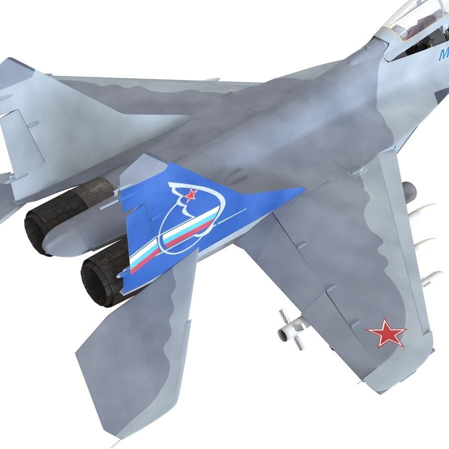 Russian Jet Fighter Mikoyan MiG-35 royalty-free 3d model - Preview no. 20
