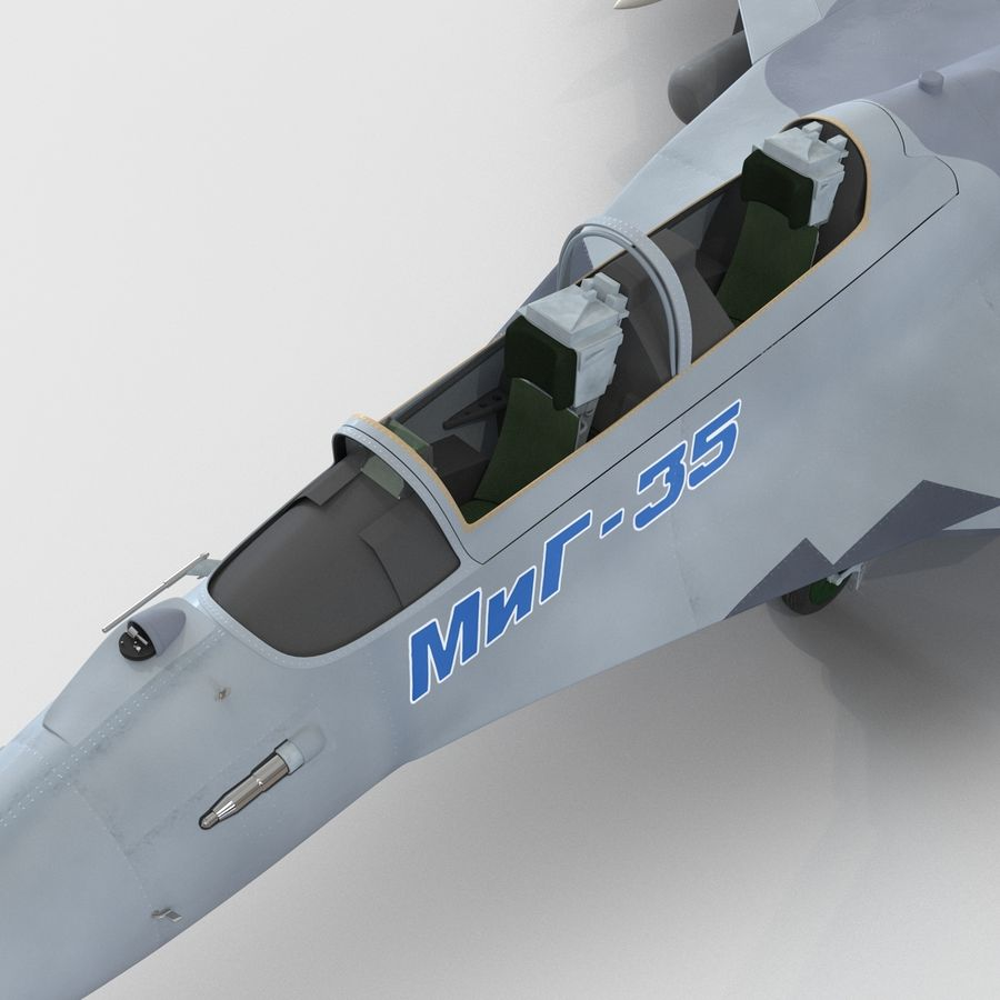 Russian Jet Fighter Mikoyan MiG-35 royalty-free 3d model - Preview no. 54