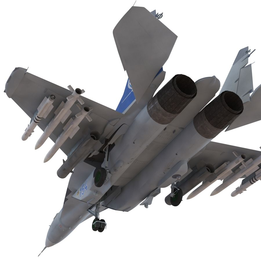 Russian Jet Fighter Mikoyan MiG-35 royalty-free 3d model - Preview no. 26