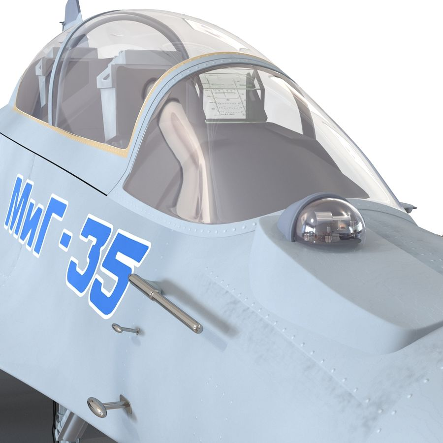 Russian Jet Fighter Mikoyan MiG-35 royalty-free 3d model - Preview no. 43