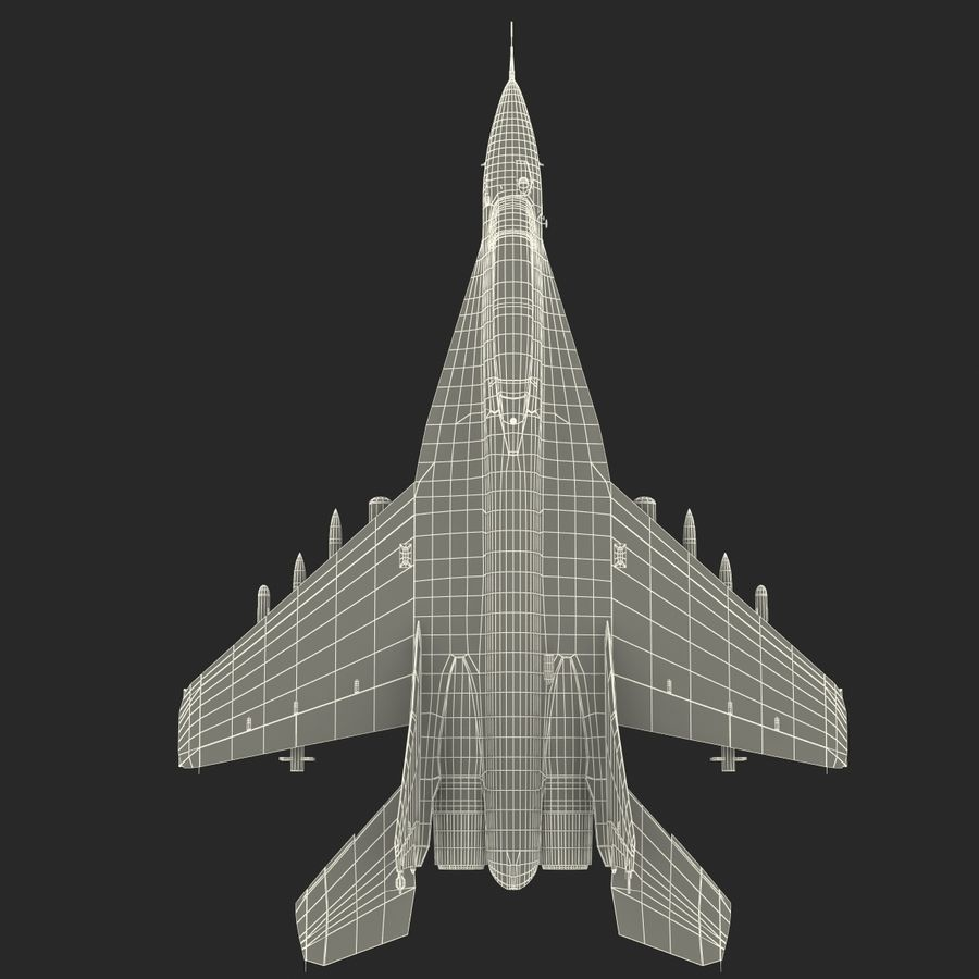 Russian Jet Fighter Mikoyan MiG-35 royalty-free 3d model - Preview no. 77
