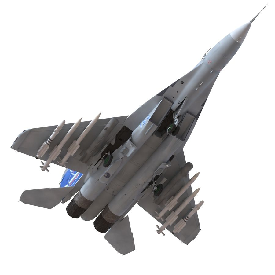 Russian Jet Fighter Mikoyan MiG-35 royalty-free 3d model - Preview no. 24