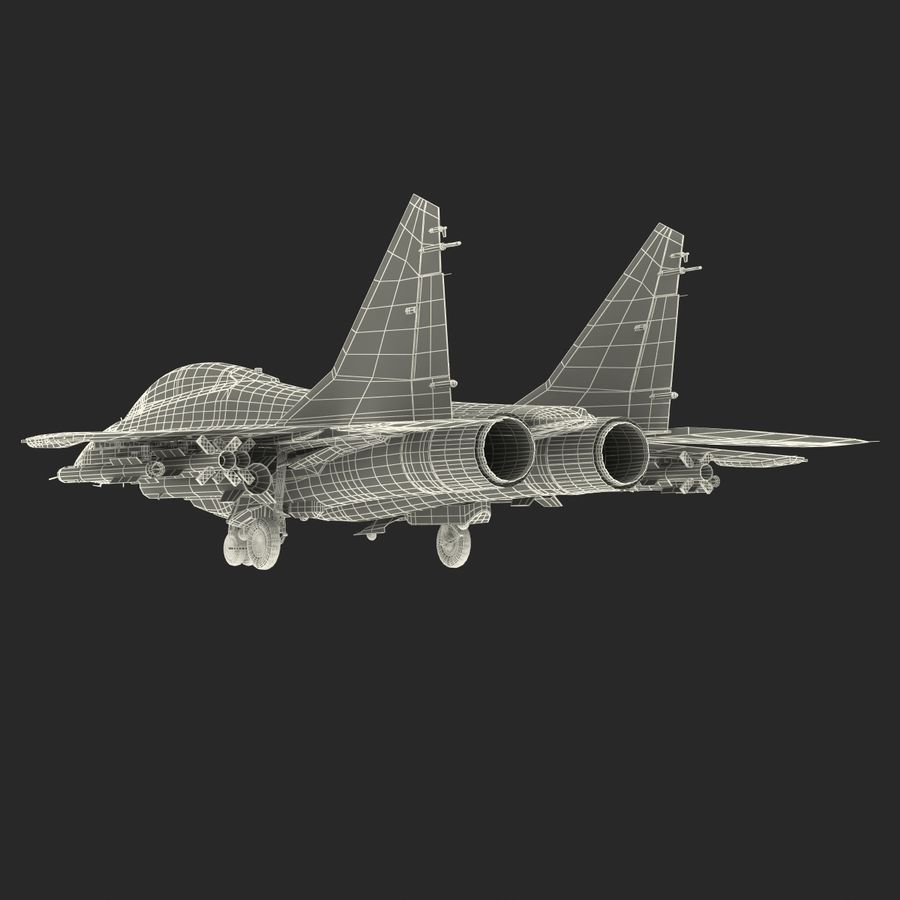 Russian Jet Fighter Mikoyan MiG-35 royalty-free 3d model - Preview no. 72