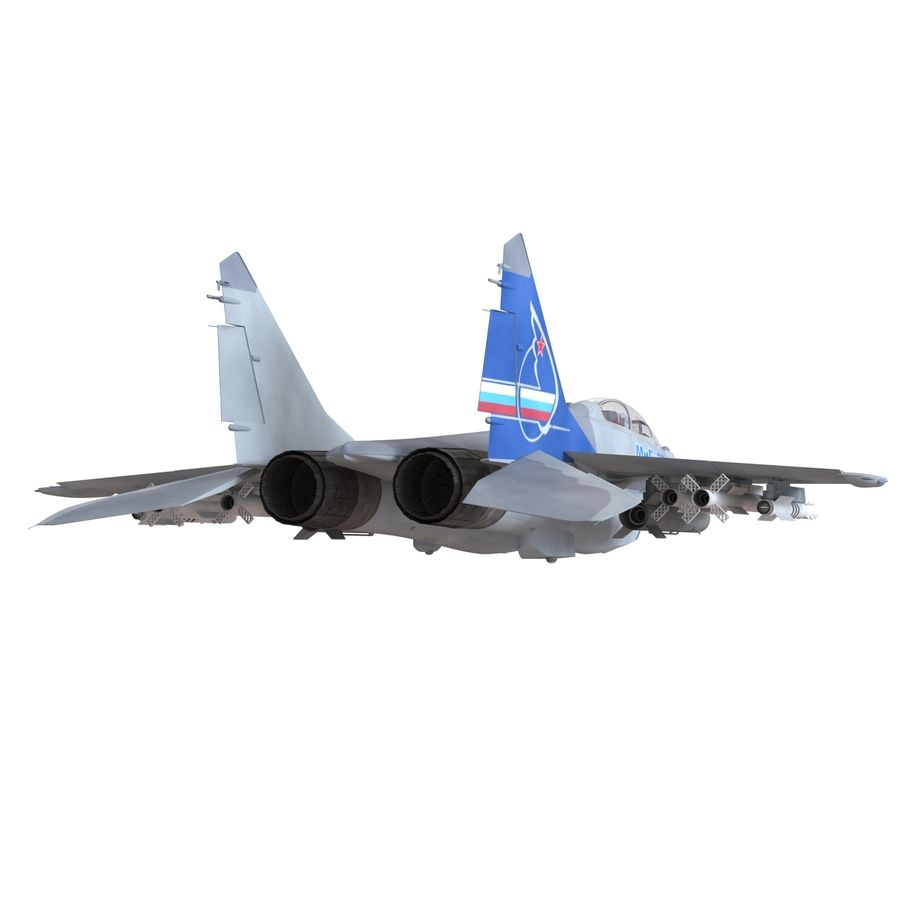 Russian Jet Fighter Mikoyan MiG-35 royalty-free 3d model - Preview no. 22