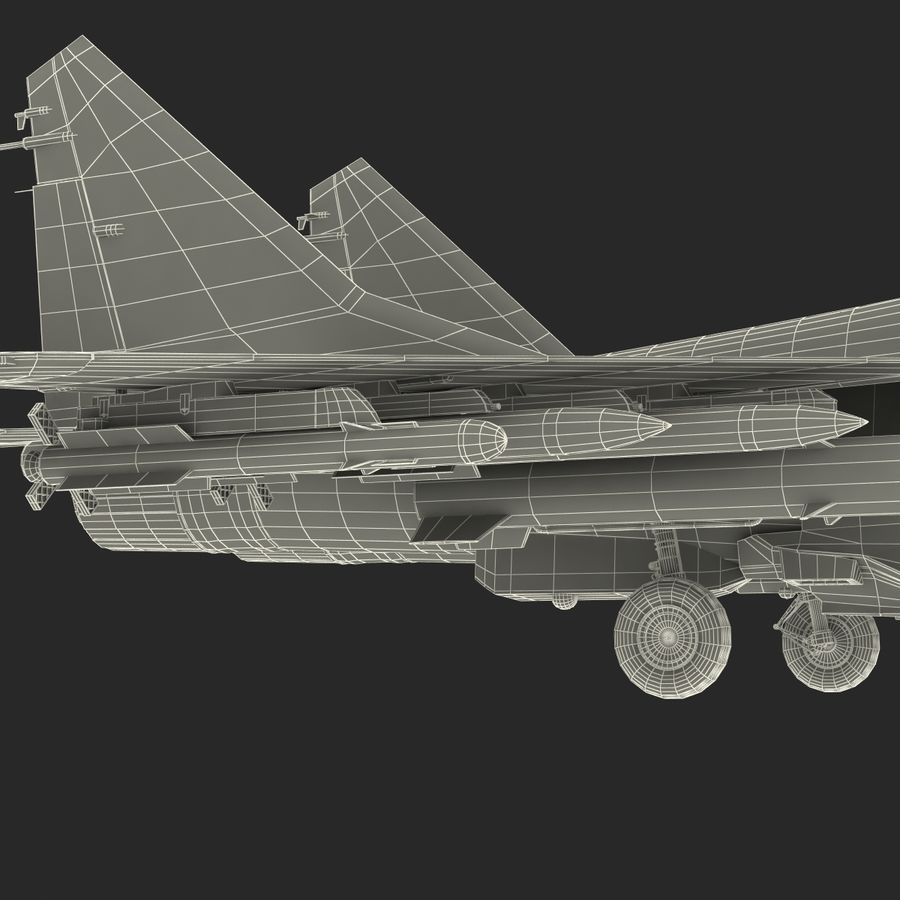 Russian Jet Fighter Mikoyan MiG-35 royalty-free 3d model - Preview no. 81