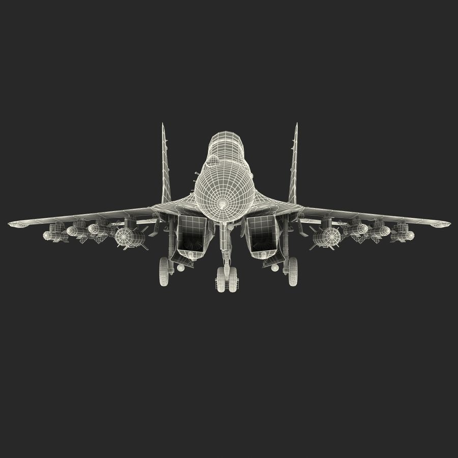 Russian Jet Fighter Mikoyan MiG-35 royalty-free 3d model - Preview no. 70