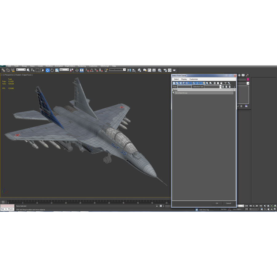 Russian Jet Fighter Mikoyan MiG-35 royalty-free 3d model - Preview no. 67
