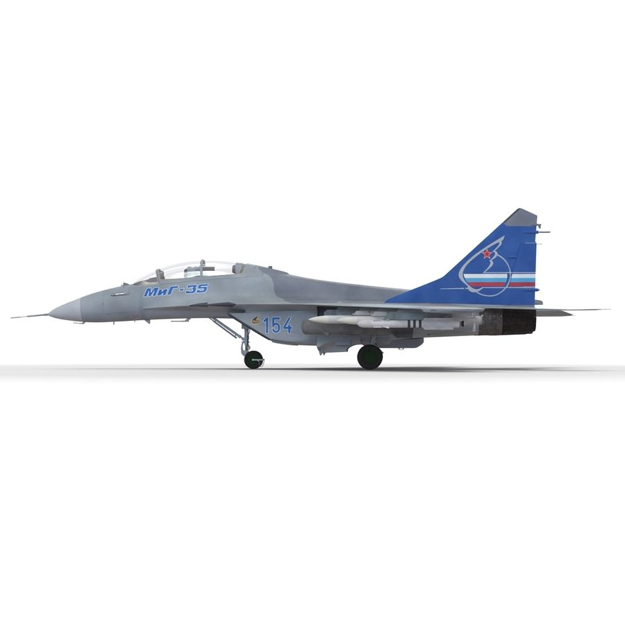 Russian Jet Fighter Mikoyan MiG-35 royalty-free 3d model - Preview no. 33