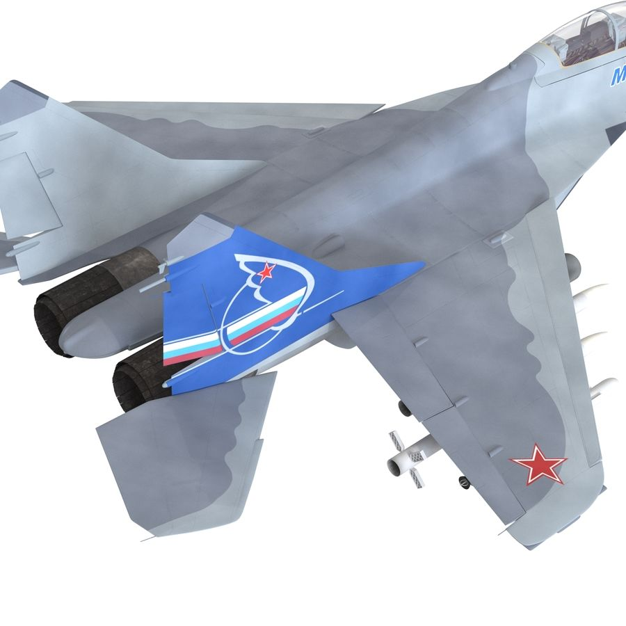 Russian Jet Fighter Mikoyan MiG-35 royalty-free 3d model - Preview no. 19