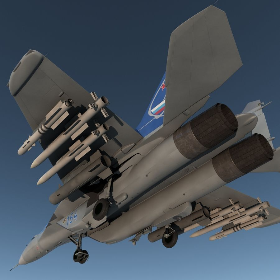 Russian Jet Fighter Mikoyan MiG-35 royalty-free 3d model - Preview no. 13