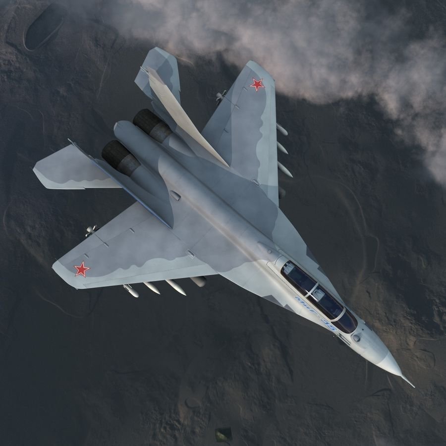 Russian Jet Fighter Mikoyan MiG-35 royalty-free 3d model - Preview no. 9
