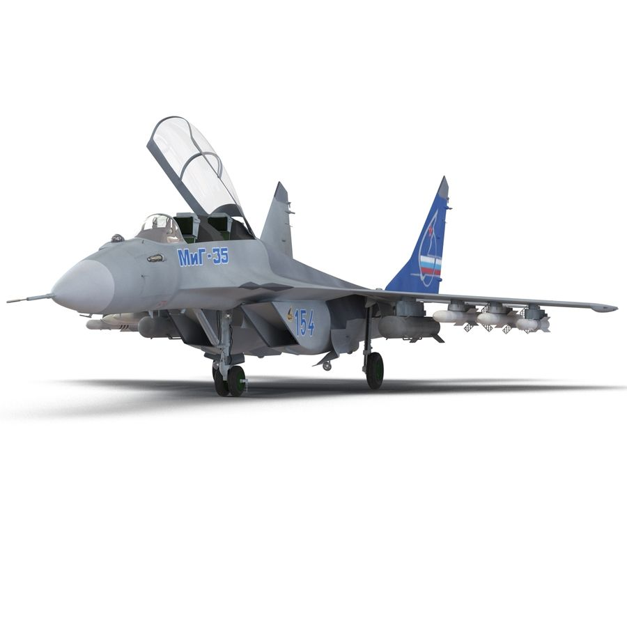 Russian Jet Fighter Mikoyan MiG-35 royalty-free 3d model - Preview no. 15