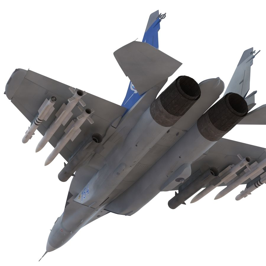 Russian Jet Fighter Mikoyan MiG-35 royalty-free 3d model - Preview no. 27