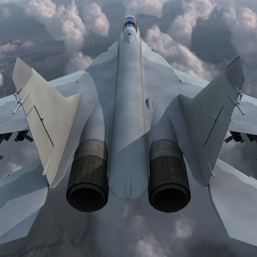 Russian Jet Fighter Mikoyan MiG-35 royalty-free 3d model - Preview no. 11