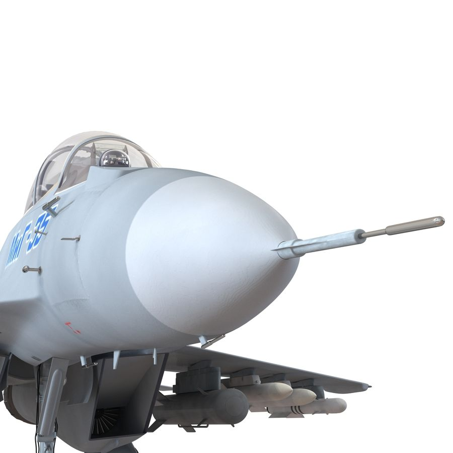 Russian Jet Fighter Mikoyan MiG-35 royalty-free 3d model - Preview no. 42