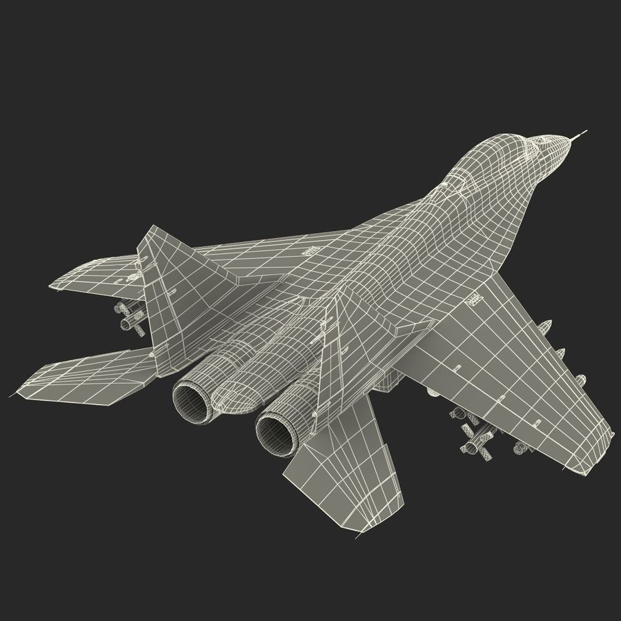 Russian Jet Fighter Mikoyan MiG-35 royalty-free 3d model - Preview no. 75