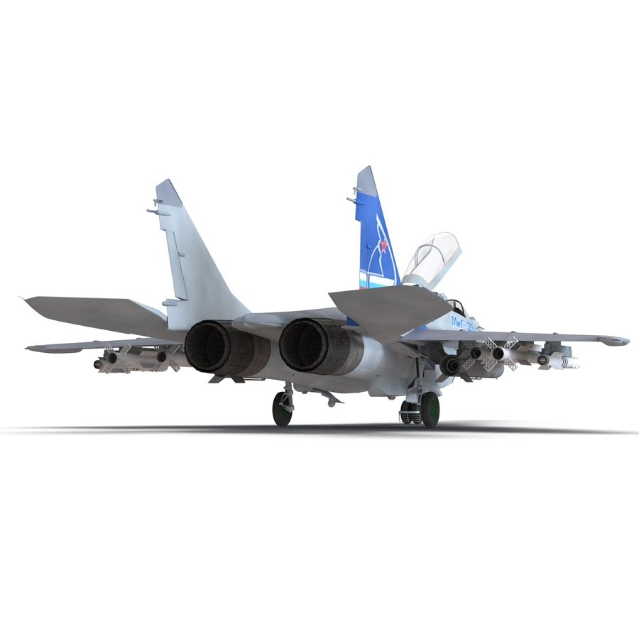 Russian Jet Fighter Mikoyan MiG-35 royalty-free 3d model - Preview no. 21