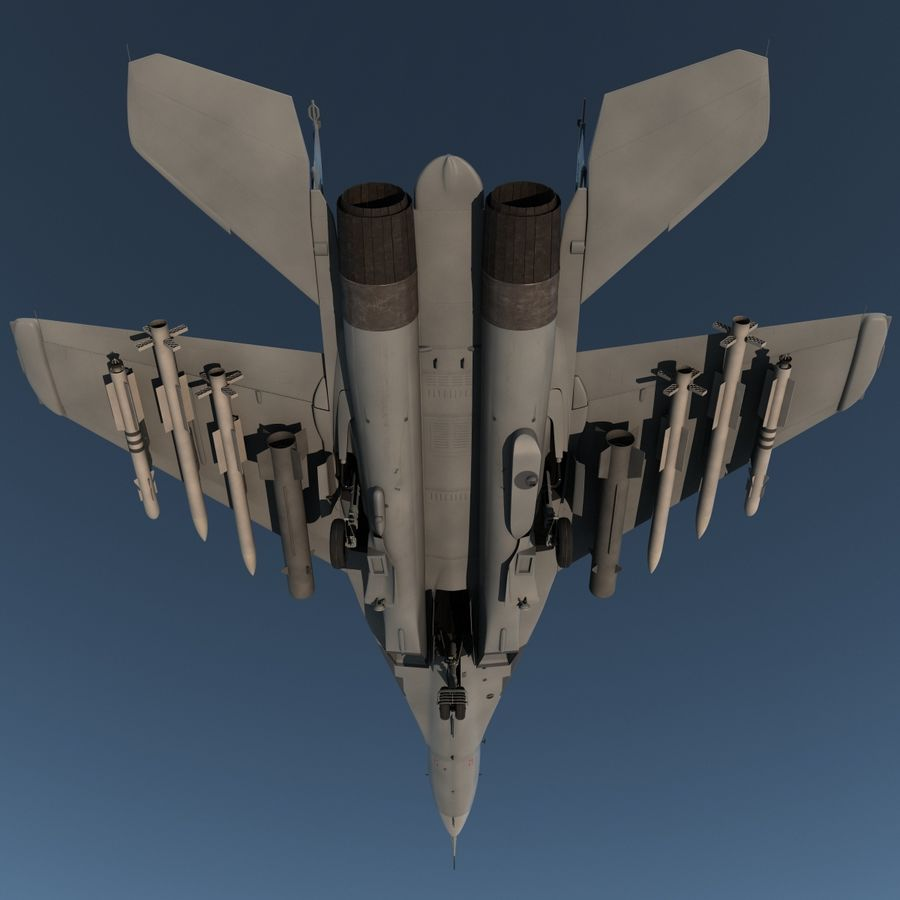 Russian Jet Fighter Mikoyan MiG-35 royalty-free 3d model - Preview no. 8