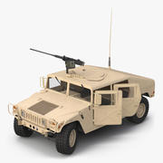 High Mobility Multipurpose Wheeled Vehicle Humvee Desert Rigged 3d model