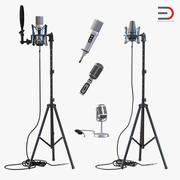Studio Microfoons Collectie 2 3d model