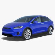 Tesla Model X 3D模型 3d model