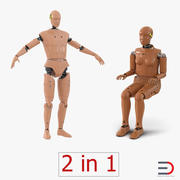 Collezione Crash Test Dummies 3d model