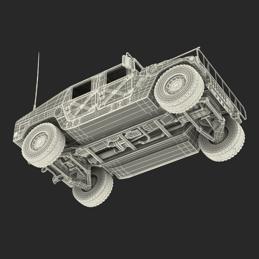 Humvee royalty-free 3d model - Preview no. 55