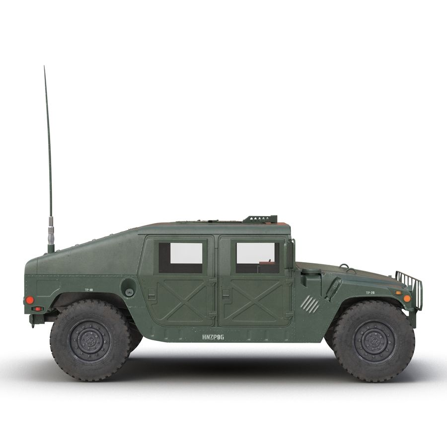 Humvee royalty-free 3d model - Preview no. 7