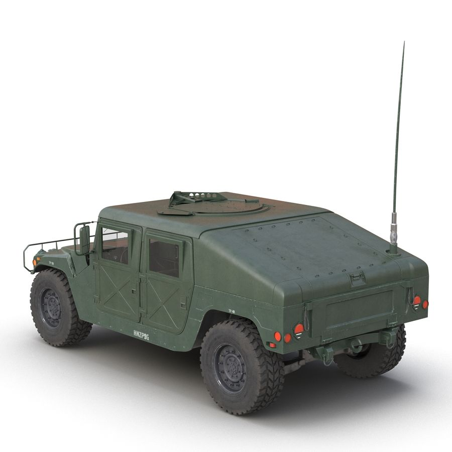 Humvee royalty-free 3d model - Preview no. 5