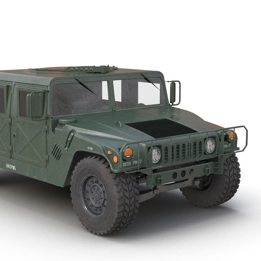Humvee royalty-free 3d model - Preview no. 15