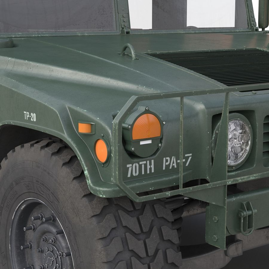 Humvee royalty-free 3d model - Preview no. 30