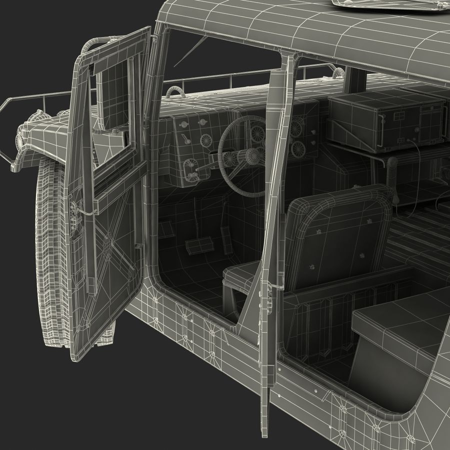 Humvee royalty-free 3d model - Preview no. 63