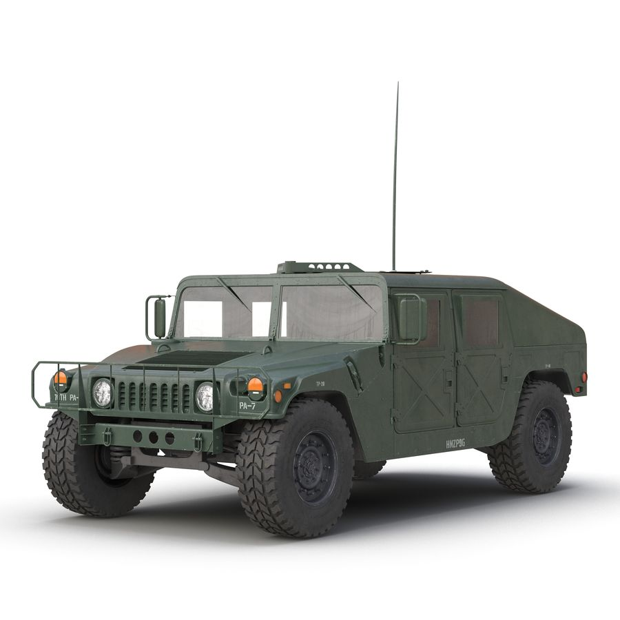 Humvee royalty-free 3d model - Preview no. 2